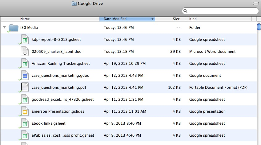 Google Drive non-Google format