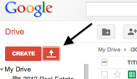 Google Drive upload button