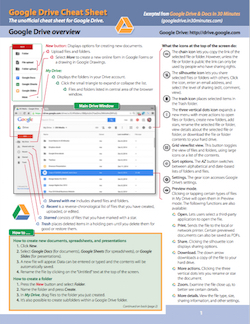 Google Drive Reference and Cheat Sheet: The unofficial cheat sheet reference for Google Drive and the Google Drive mobile app