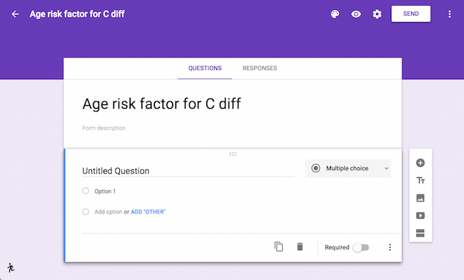 Google Forms interface and tutorial