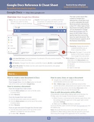 Google Docs Cheat Sheet - what's inside